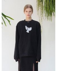 TARGETTO - Feather Bird Sweat Shirts Black - Lyst
