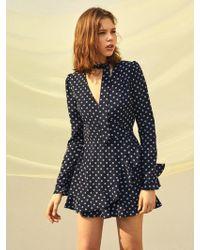 W Concept - [us] Flower Printed Wrap Jumpsuit - Lyst