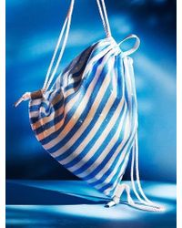 UNDER82 - Shinning Drawstring Bag Blue - Lyst
