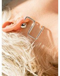 VIOLLINA - Hanguel Alphabet Single Earring-2 Silver - Lyst