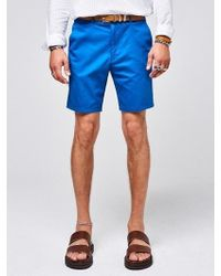 YAN13 - Standard Chino Shorts Blue - Lyst