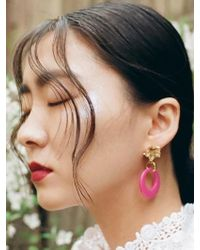 VON DITOLE - Pink Hole Retro Flower Vintage Earring - Lyst