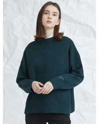 MILLOGREM - Embroideried Cuffs Sweater Green - Lyst