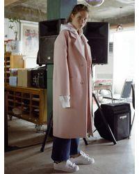 Bouton - Oversized Maxi Coat - Lyst