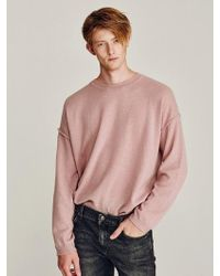 LIUNICK - Even Overfit Wool Knit Pink - Lyst