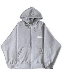 CHANCECHANCE - Cec Hood Zip Up_gray - Lyst
