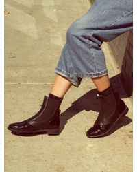 Wite - D05 - Black Patent Chelsea Boots - Lyst