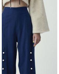 Fleamadonna - Front Slit Pearl Trousers - Lyst