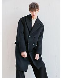 BONNIE&BLANCHE | Moment Double Overfit Coat Black | Lyst