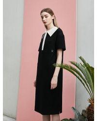 COLLABOTORY - Loose Fit Pique Dress Black - Lyst