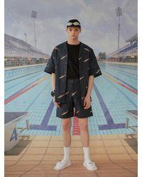 W Concept - [unisex]shark Shorts Dark Navy - Lyst