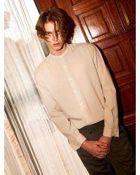YAN13 - Slub Special Shirt_beige - Lyst