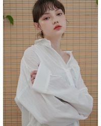 1159 STUDIOS - Mh6 Lace Tape Over Shirt_wh - Lyst