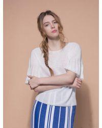 MOIMOII - Whole Garment Retro Round Knit - Lyst