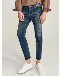 LIUNICK - Valued Washing Cutoff Jean - Lyst