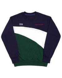 FRESH ANTI YOUTH - Wave-crewneck Sweater Navy - Lyst