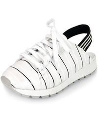 SHOBONYATA - Stripe Banding Back Open Sneakers_s3053 - Lyst