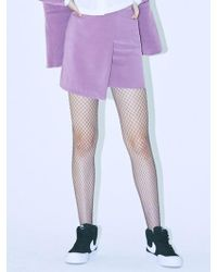 MIGNONNEUF - Crush Layer Skirt Red Bean - Lyst