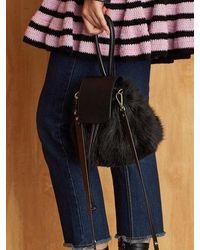 Atelier Park - Color Handle Fur Bag_black - Lyst