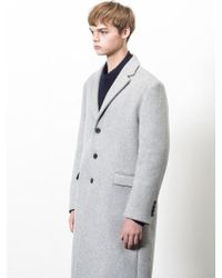W Concept - Cashmere Wool Coat_gray - Lyst