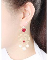 NOONOO FINGERS - Lace Angels Pearl Earring - Lyst
