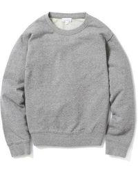 AECA WHITE - Terry Light Sweatshirt Grey - Lyst