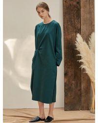 W Concept - B Two Tuck Dress Dg - Lyst