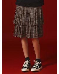 Margarin Fingers - Tiered Pleats Skirt - Lyst