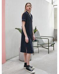 COLLABOTORY - Navy Short Sleeve Pajama Dress - Lyst