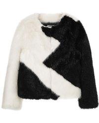 Jin Jin Island - Zigzag Faux Fur Jacket - Lyst
