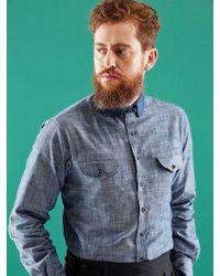 SOPHY&TAYLOR - Tab Collar Shirt - Lyst