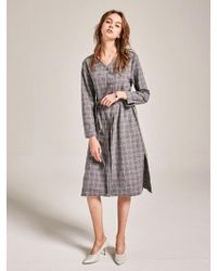 YAN13 - Another Check Dress_gray - Lyst