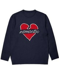 Beyond Closet - Nomantic Heart Logo Knit Navy [collection] - Lyst