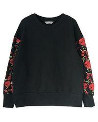 Grace Raiment - Lace Sleeve Sweatshirt - Lyst