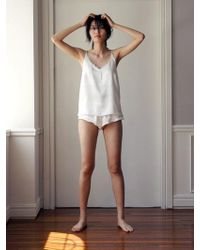 W Concept Femme Camisole Set - White