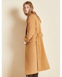 Clue de Clare - Belted Single Coat Beige - Lyst