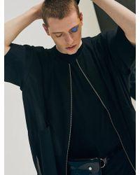 Add - Short Sleeve Zipper Jacket Black - Lyst