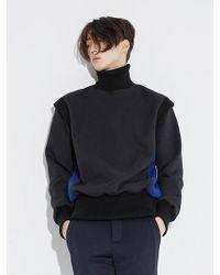BONNIE&BLANCHE - Layered High Neck Mtm T-shirt_black - Lyst