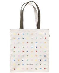 W Concept - Multi Star Tote Bag Khaki - Lyst