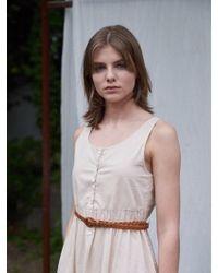 W Concept - Mimimi Leather Belt_2color - Lyst