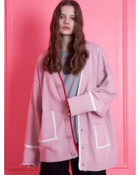 WAIKEI - [unisex] Oversize Cardigan Light Pink - Lyst