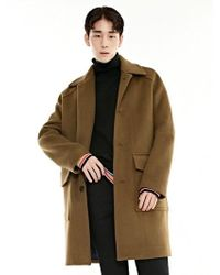 BONNIE&BLANCHE - Single Overfit Coat_camel - Lyst