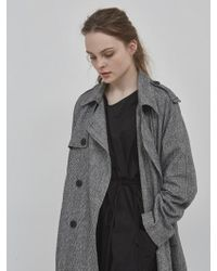 NUISSUE - Oversize Trench Coat Check.ver2 - Lyst