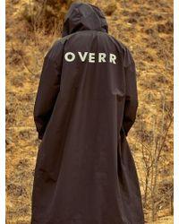 OVERR - Black Rain Coat - Lyst