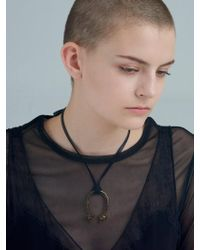 VIOLLINA - Another V Fox Pendant Leather Tie Necklace - Lyst
