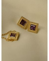 FLOWOOM - Square Frame Earrings - Lyst