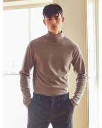 LIUNICK - Optimal Polo-neck Pullover Knit (mocha) - Lyst