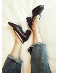 Wite - C04 Brown Pipe Court Shoes - Lyst