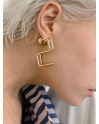 VIOLLINA - Hanguel Alphabet Single Earring-2 Gold - Lyst