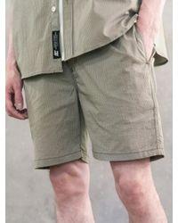 F.ILLUMINATE - [unisex]seersucker Cool Shorts-khaki - Lyst